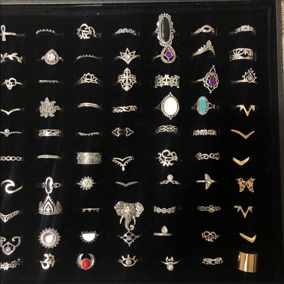 LOT of rings 100 pieces assorted